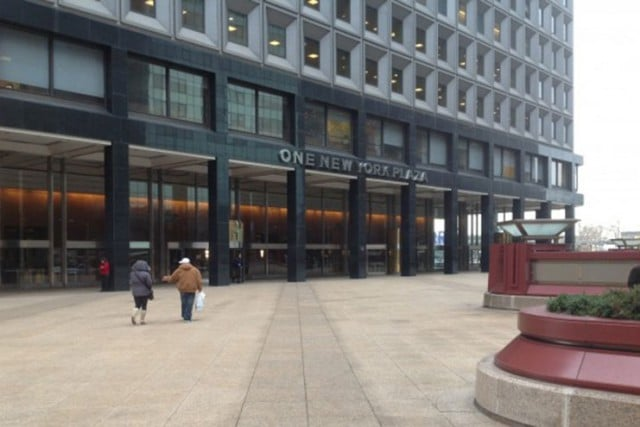 Privately owned public space POPS 1 New York Plaza