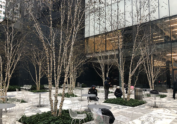 Public space at 432 Park Avenue in Manhattan